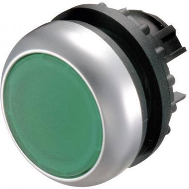 Buton plat, iluminat, IP 67, 29.7 x 10 mm, fără marcare, verde