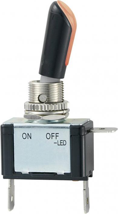 Întrerupător auto cu manetă tip R13-404AL2, 30 A, 12 V/DC, 1 x ON/OFF