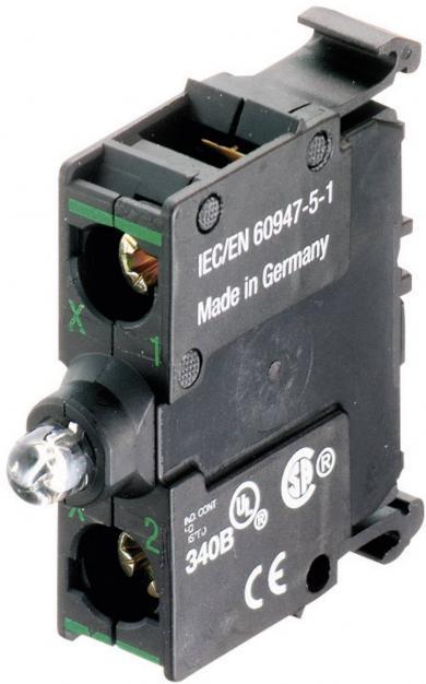 Element led M22-LEDC230-B, 85-264 V DC/AC, fixare bază, led albastru