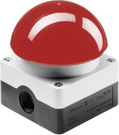 Buton cu suprafaţă mare FAK-R/KC11/I, 1 x OFF/(ON), 1 x ON/(OFF), 6 A/230 V/AC, IP 67, monostabil, roşu/gri deschis (RAL 7035)