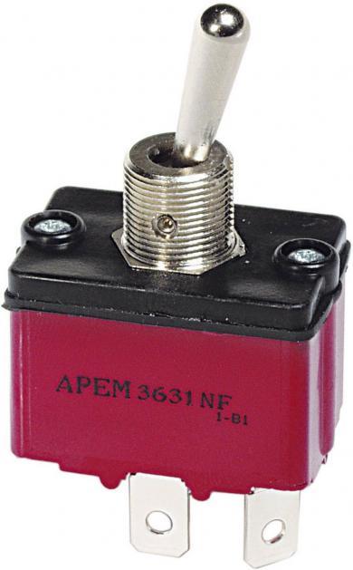 Întrerupător cu manetă etanş  3637NF/2, 250 V/AC, 6 A, 1 x (ON)/OFF/(ON)