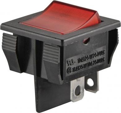 Întrerupător Rocker 16 A tip R13-30B-01 GN, ON/OFF, buton verde