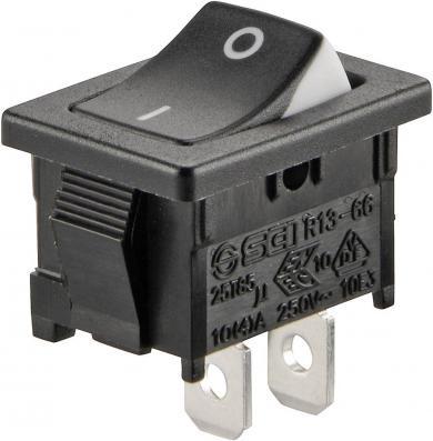Întrerupător basculant SCI tip Rocker 10 A R13-66A3-02 ON/OFF 250 V/AC 6 A