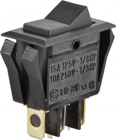 Întrerupător basculant SCI tip Rocker 15 A R13-72D-01 ON/OFF/ON 250 V/AC 10 A