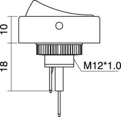 Întrerupător basculant auto SCI, 30 A R13-133L-SQ ON/OFF 12 V/DC 30 A