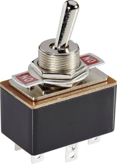 Întrerupător basculant SCI , 3 A R13-4-05 2 x ON/ON 250 V/AC 1,5 A