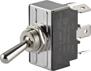 Întrerupător basculant SCI, 15 A R13-28B-01 2 x ON/ON 250 V/AC 10 A