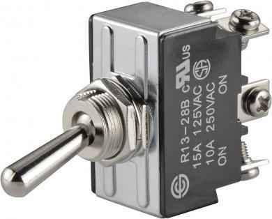 Întrerupător basculant SCI, 15 A R13-28B-06 2 x ON/ON 250 V/AC 10 A