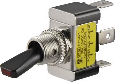 Întrerupător basculant auto SCI, 30 A R13-423L galben 1 x ON/OFF 12 V/DC 30 A
