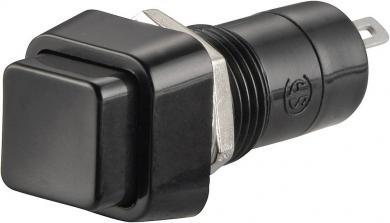 Întrerupător cu buton R13-23A-05 BLACK KNOB 3 A /125 V/AC; 1,5 A / 250 V/AC, 1 x OFF/(ON), culoare buton negru