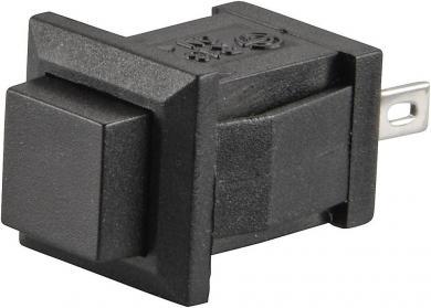 Întrerupător cu buton R13-57A-05 BLACK ACTUATOR 1 A/125 V/AC; 0,5 A/250 V/AC, 1 x (ON)/OFF, culoare buton negru