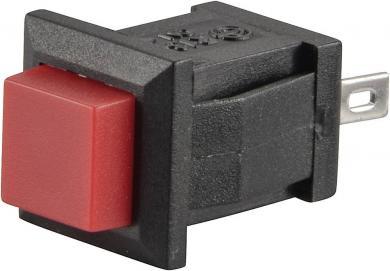 Întrerupător cu buton R13-57A-05 RED ACTUATOR 1 A/125 V/AC; 0,5 A/250 V/AC, 1 x (ON)/OFF, culoare buton roşu
