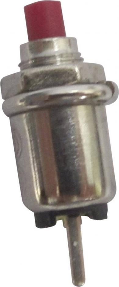 Întrerupător cu buton R13-81A-05 RED ACTUATOR, 0,5 A/250 V/AC, 1 x (ON)/OFF, culoare buton roşu