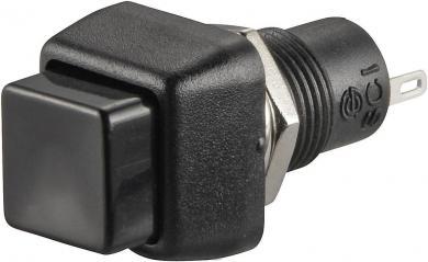 Întrerupător cu buton R13-83A-05 BLACK ACTUATOR, 0,5 A/250 V/AC, 1 x OFF/(ON), culoare buton negru