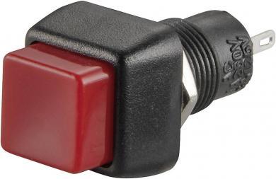 Întrerupător cu buton R13-83B-05 RED ACTUATOR, 0,5 A/250 V/AC, 1 x ON/OFF, culoare buton roşu