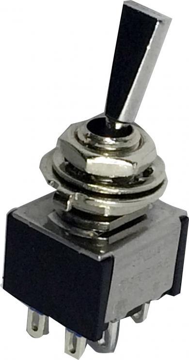 Întrerupător basculant SCI, 6 A TA203F1 2 x ON/OFF/ON 250 V/AC 3 A