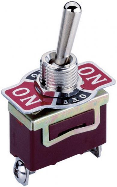 Întrerupător basculant, 3 poziţii, KN3, 1 x ON/OFF/ON 250 V/AC 3 A