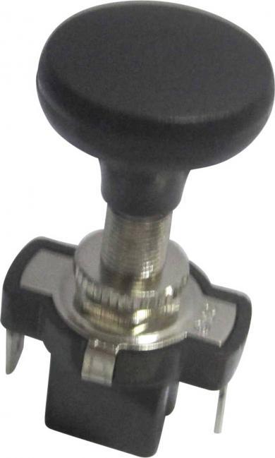 Întrerupător auto acţionat prin tragere A3-5AC-SQ, OFF/ON, 10 A, 12 V/DC, Ø montare 8.2 mm, conexiune prin conector plat, buton de acţionare negru, mare