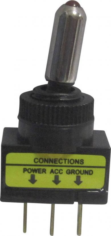 Întrerupător basculant auto SCI 20 A R13-61B ON/OFF 12 V/DC 20 A
