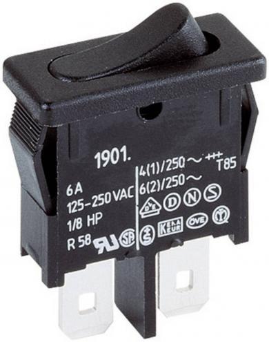 Întrerupător basculant Marquardt tip Rocker 1911.1102 1 x OFF/ON 250 V/AC 6 (2) A