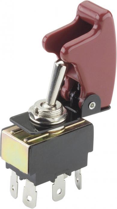 Întrerupător basculant SCI , 15 A, cu capac de protecţie, R13-28B-01/R17-10 2 x ON/ON 250 V/AC 10 A
