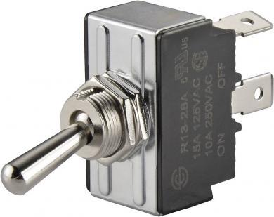 Întrerupător basculant SCI, 15 A R13-28D-01 1 x ON/OFF/ON 250 V/AC 10 A