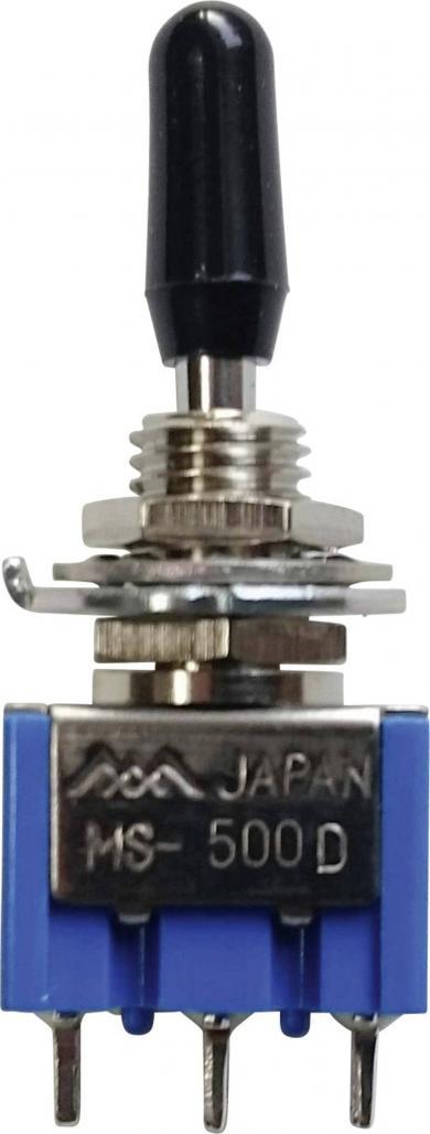 Întrerupător basculant miniatură MIYAMA, MS 500-BC-D 1 x ON/OFF/(ON) 125 V/AC 6 A