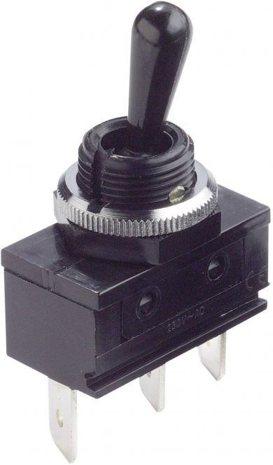Întrerupător bistabil Arcolectric, cu manetă de plastic, C1722ROAAA 1 x (ON)/OFF/(ON) 250 V/AC 16 A