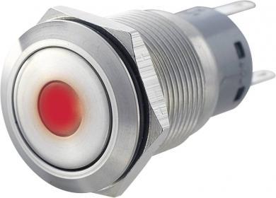Întrerupător 19 mm anti-vandalism, iluminare punctuală, 250 V/AC 5 A
