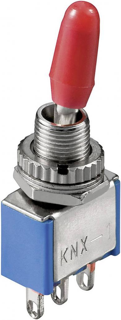 Întrerupător basculant miniatură cu 2 contacte