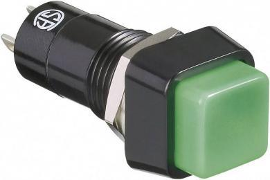 Întrerupător cu buton R13-23A-05 GREEN KNOB 3 A /125 V/AC; 1,5 A / 250 V/AC, 1 x OFF/(ON), culoare buton verde deschis