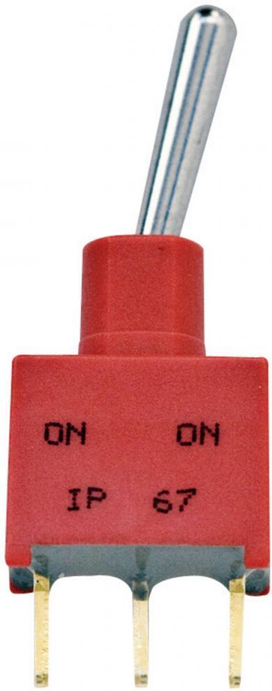 Mini-întrerupător basculant Gemini AE 3-1825142-1 1 x ON/OFF/ON 250 V/AC 2 A