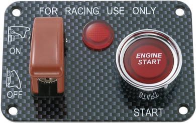Panou de comandă auto SCI 20/50 A R18-Q1A-23B423L3R17100L OFF/ON (întrerupător), OFF/(ON) buton Start, carbon