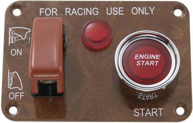 Panou de comandă auto SCI 20/50 A R18-Q1A-23B423L3R17100L OFF/ON (întrerupător), OFF/(ON) buton Start, maro