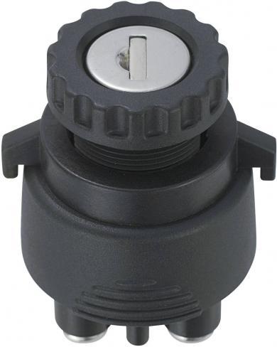 Întrerupător cu cheie K3-33, 15 A, 250 V, ON/OFF/ON/(ON)