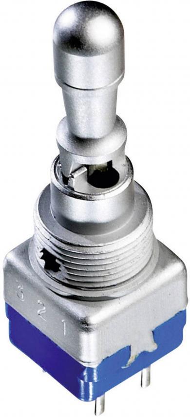 Întrerupător cu manetă tip 12149A, argint, 2 x ON/OFF/ON, IP54