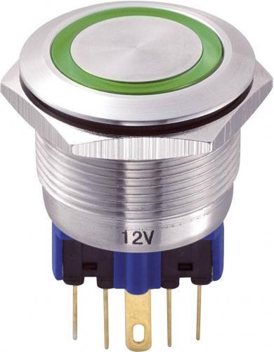 Întrerupător 22 mm anti-vandalism, iluminare inelară, 250 V/AC 5 A