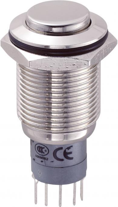 Întrerupător 16 mm anti-vandalism, neiluminat, 250 V/DC 3 A