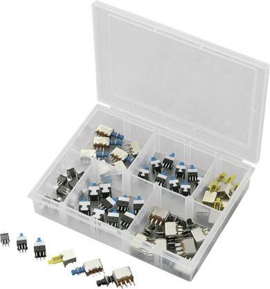 Set întrerupătoare cu buton, 52 buc. PPSWKS, max. 30 V/DC max. 0,3 A