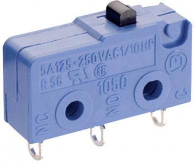 Microîntrerupător Marquardt, seria 1050, 1 x ON/(ON), 250 V/AC, 5 A, conexiune prin ochiuri de lipire