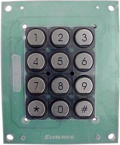 Tastatură din oţel nobil T12PR, matrice 3 x 4, conector 10 pini