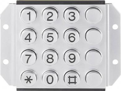 Tastatură metalică 031-0007-3P, matrice 4 x 4, 108.8 x 76 mm