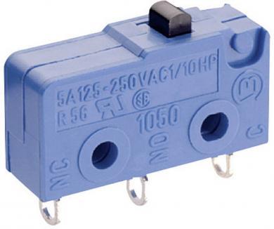 Microîntrerupător Marquardt, seria 1050, 1 x ON/(ON), 250 V/AC, 5 A, conexiune prin pini de lipire