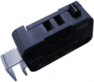 Întrerupător miniatură D4 Cherry, D443-P4AA, 250 V/AC, fără manetă, conexiune prin conexiune pentru circuite imprimate, curent de comutare 10 (3) A
