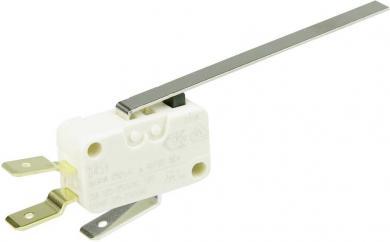 Întrerupător miniatură D4 Cherry, D453-V3LL, 250 V/AC, manetă lungă, conexiune prin conector plat, 6,3 X 0,8 mm, curent de comutare 16 (4) A