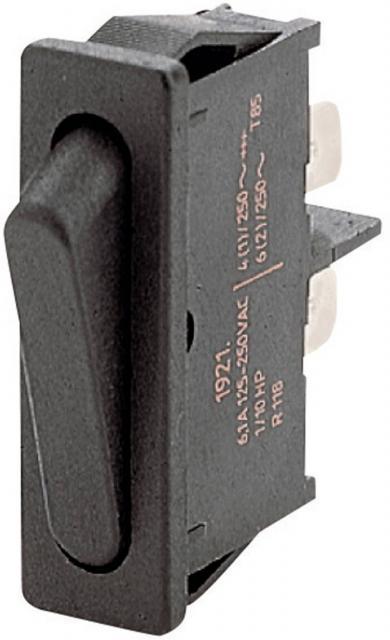 Întrerupător basculant Marquardt tip Rocker 1921.1102 1 x OFF/ON 250 V/AC 6 (2) A