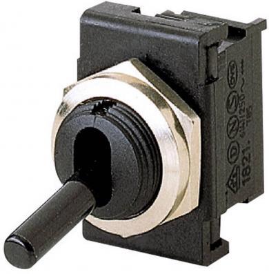 Întrerupător basculant, seria 1821.1101 1 x OFF/ON 250 V/AC 6 (4) A