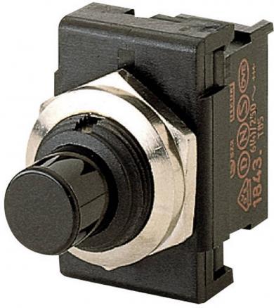 Întrerupător cu buton Marquardt 1841.1301, 1 x (ON)/OFF, 250 V/AC, 6 (2) A