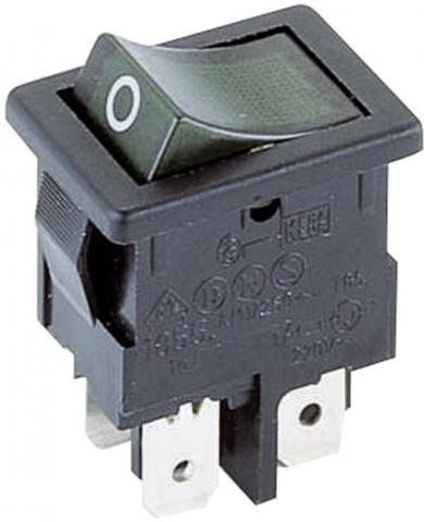 Întrerupător basculant Marquardt tip Rocker 1855.0108 2 x OFF/ON 250 V/AC 4 (1) A