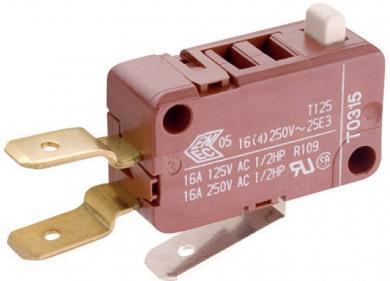 Întrerupător instantaneu miniatură Marquardt, seria 1080 1 x ON/(ON) 250 V/AC